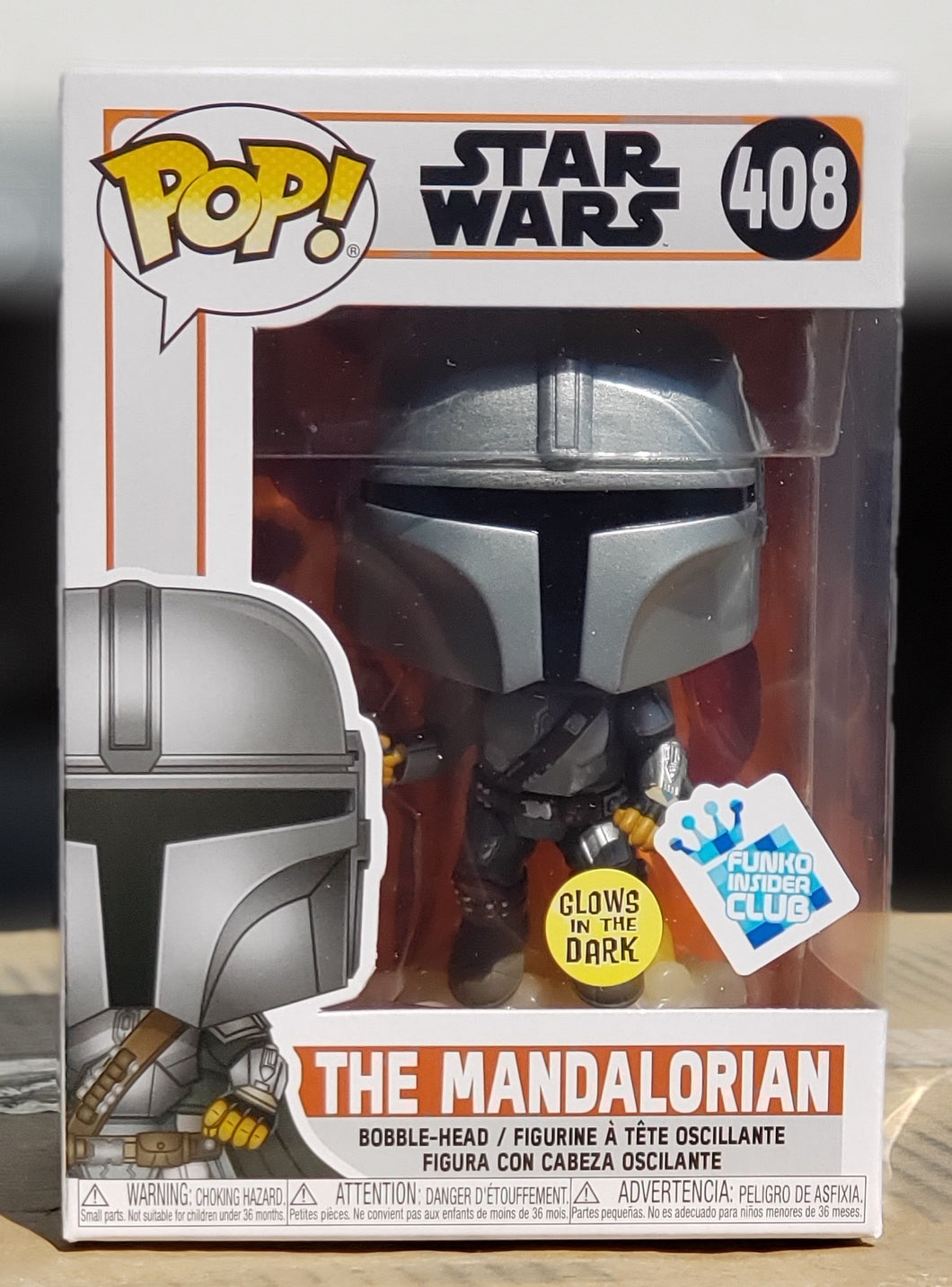 Funko pop Star Wars The Mandalorian #408 Game Stop Exclusive GITD In Stock Now