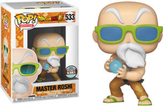 Funko Pop! Master Roshi Max Power Dragon Ball Super DBZ Pop Specialty Series #533 with Protector