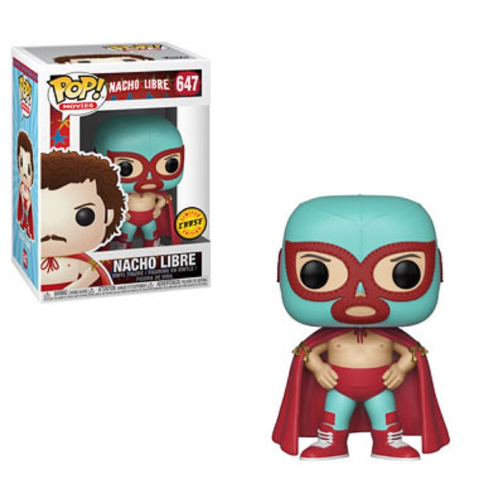 Funko Pop Nacho Libre Chase Mint with .5mm soft protector