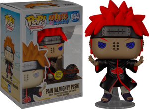 Funko Pop! Naruto PAIN #944 Almighty Push GLOW Special Edition Sticker IN STOCK NOW
