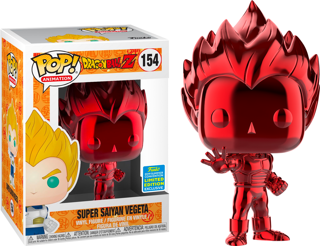 Funko Pop Animation Super Saiyan Vegeta (Red Chrome) Summer Convention