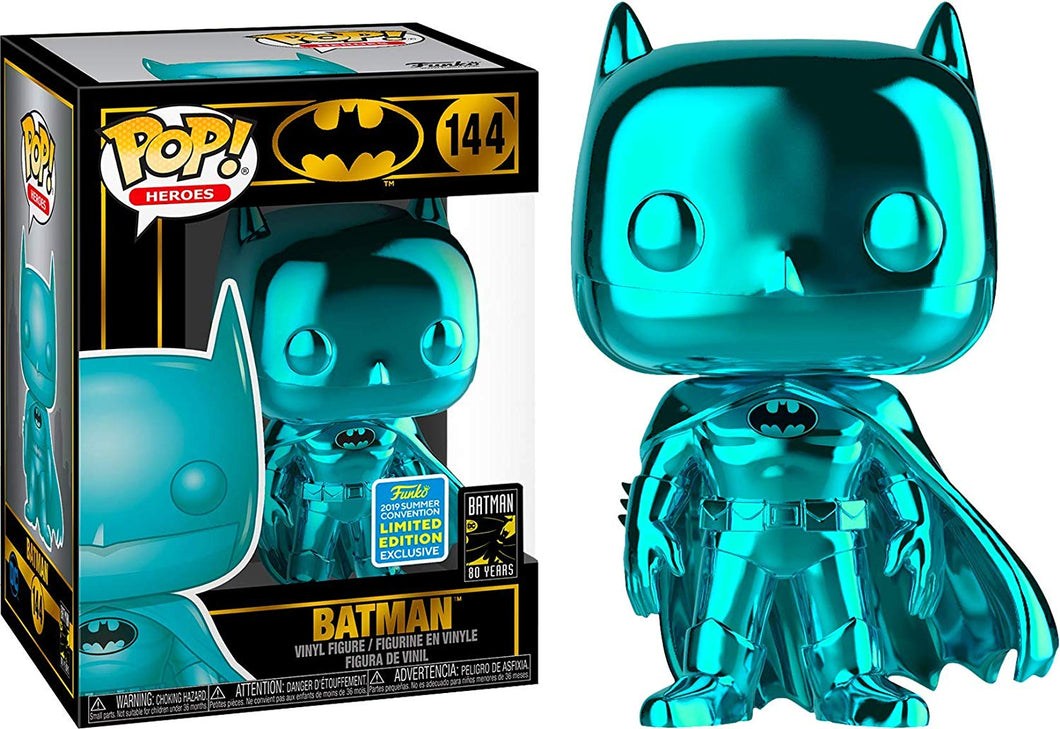 Funko Pop Teal Chrome Batman 2019 SDCC Exclusive Shared