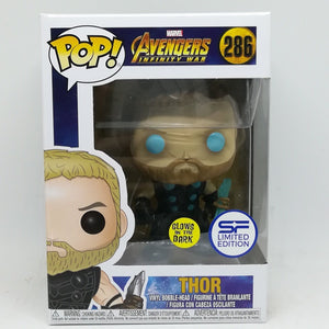 Funko Pop Infinity Wars Thor Asia Glow in the Dark Exclusive SF Sticker