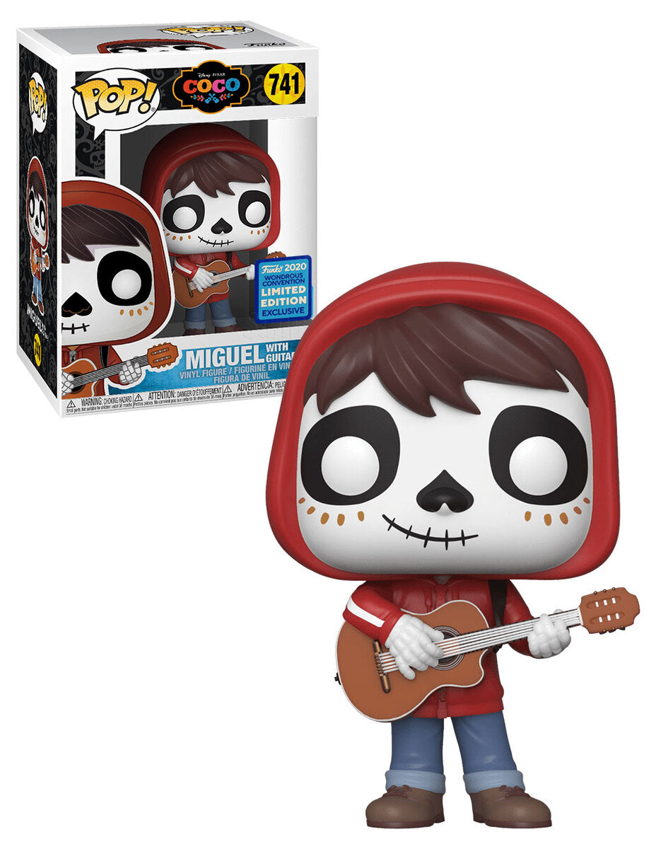 Funko Pop Coco Miguel with Guitar Wonder Con Exclusive Shared Sticker