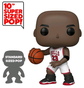 "Funko Pop NBA Bulls Michael Jordan White Jersey Special Edition Sticker 10"" Pop! Vinyl"