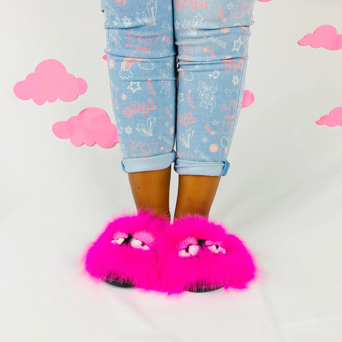 Hot Pink Little Monster Slides