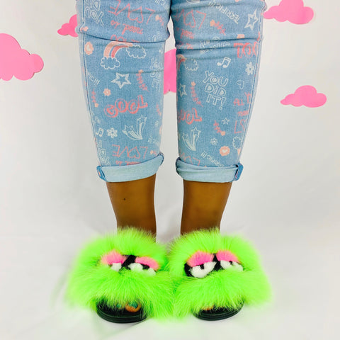 Green Slime Little Monster Slides