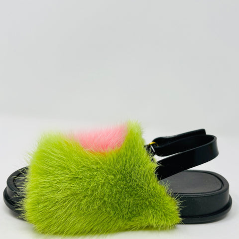 Green Apple Heart Slides