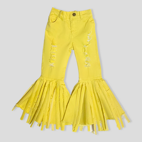 Yellow Cori Distressed Jeans
