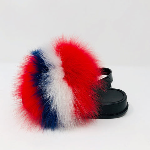 Red,White, and Blue Toddler Fluffy Sandals