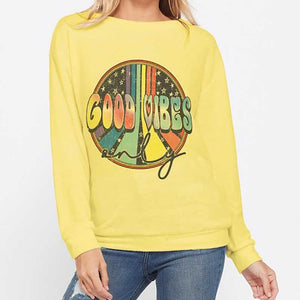 Good Vibes Only Lightweight Sweater
