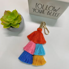 Load image into Gallery viewer, Double Tassel Key Chain