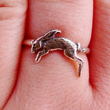Hare Sterling Silver Stackable Ring