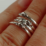 Mouse Stackable Sterling Silver Ring