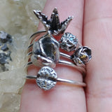 Sterling Silver Aloe Vera Stackable Ring
