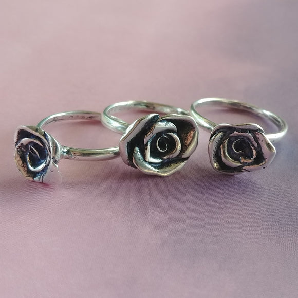 Rose Ring Sterling Silver