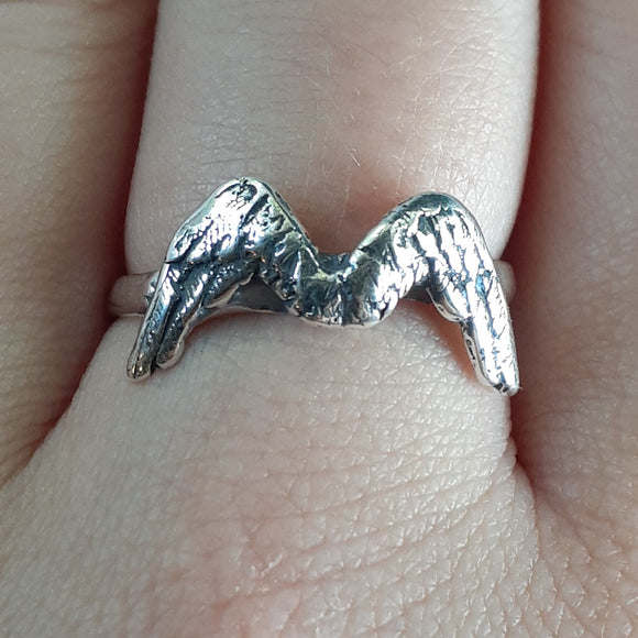 Feathered Wings Ring in Sterling Silver