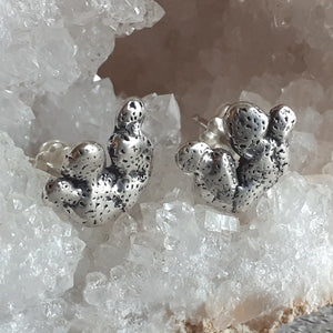 Cacti Post Earrings in Sterling Silver