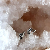 Mouse Post Earrings Sterling Silver