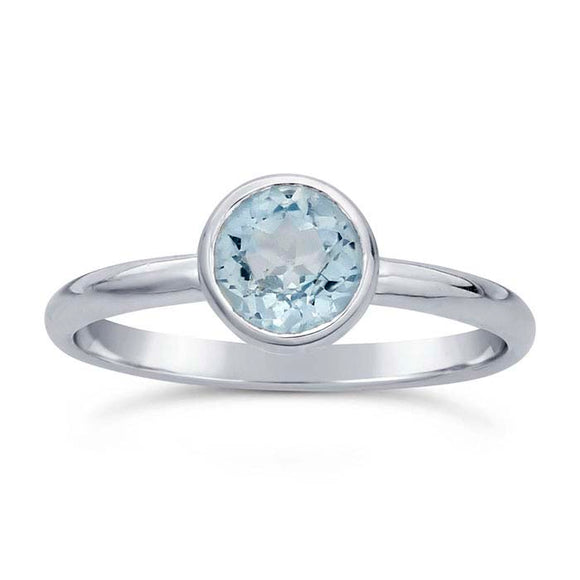 Discontinued 50% OFF Blue Topaz Gemstone Ring not handmade