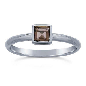 Discontinued 50% OFF Smoky Quartz Gemstone Ring not handmade