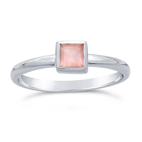 Discontinued 50% OFF Rose Quartz Gemstone Ring not handmade
