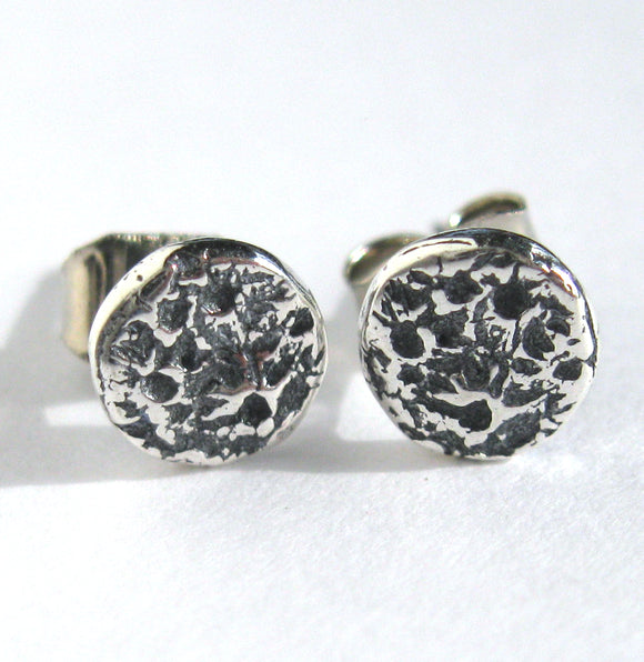 Sterling Silver Moon Post Earrings