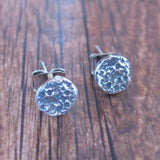 Moon Post Earrings Sterling Silver