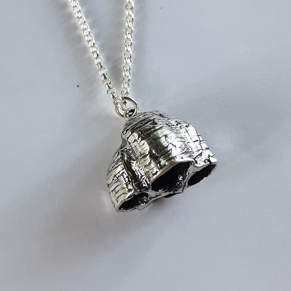 Wasp Nest Necklace in Sterling Silver