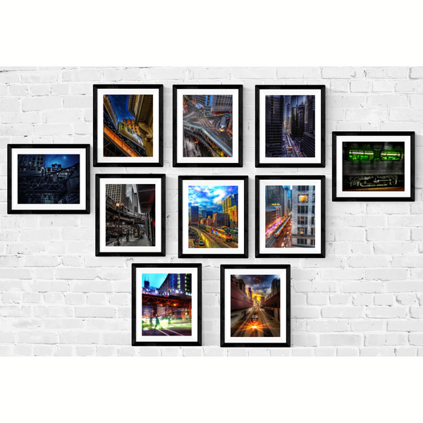 Chicago Train Photography Print Set | Set of 10 Wall Art at 45% off