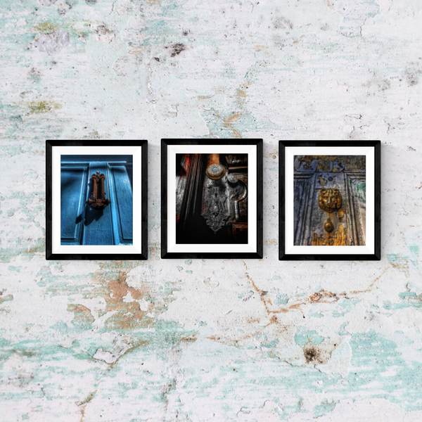 Door Knob Print Set | Set of 3 Wall Art at 30% off