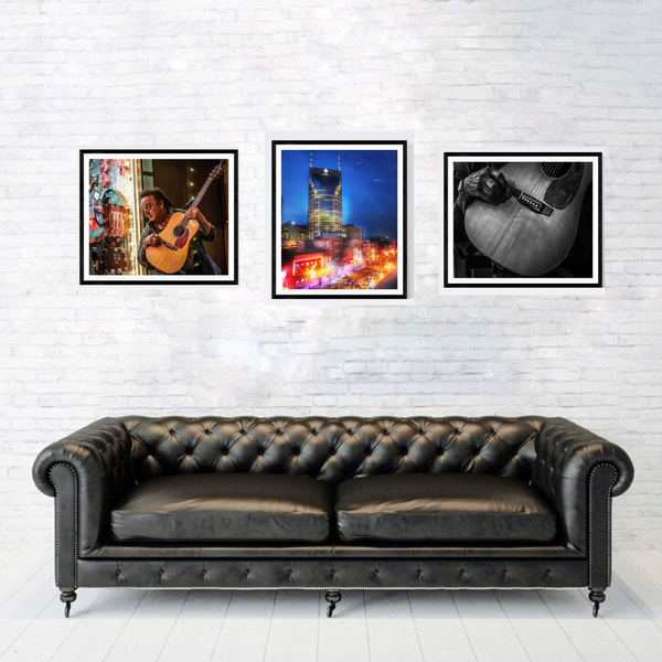 Nashville Photography Print Set | Set of 3 Wall Art at 30% off | Honky Tonk Wall Decor