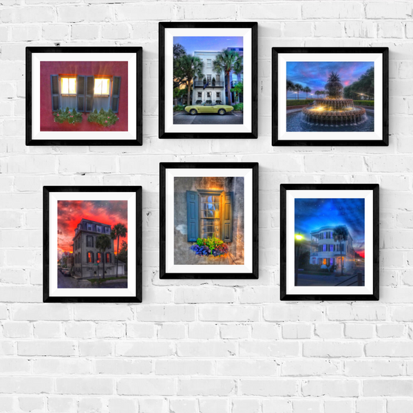Charleston South Carolina Photography Print Set | Set of 6 Wall Art at 40% off | Charleston Architecture Wall Decor