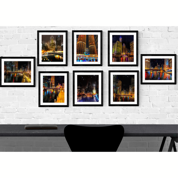 Chicago Photography Print Set | Set of 8 Wall Art at 40% off