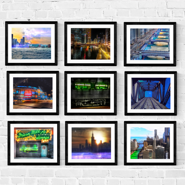 Chicago Photography Print Set | Set of 9 Wall Art at 45% off