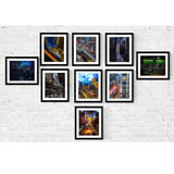 Chicago Photography Train Print Set | Set of 9 Wall Art at 45% off