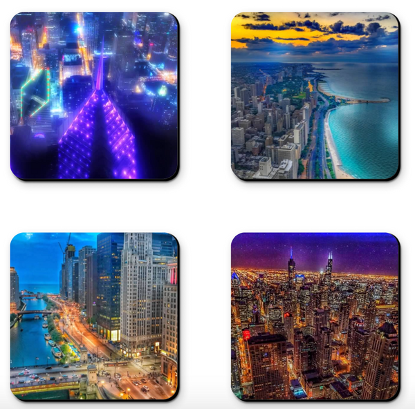 Aerial Chicago Coaster Sets