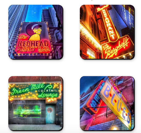 Chicago Bar Coaster Sets