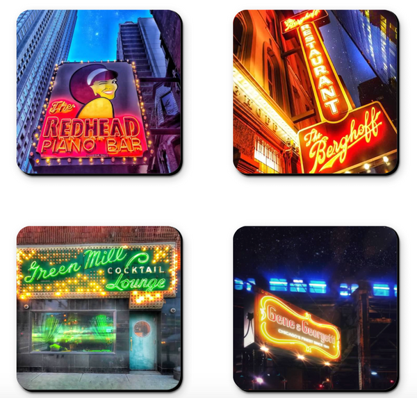 Chicago Bar (2) Coaster Sets