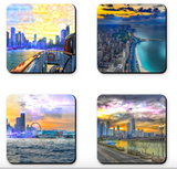 Chicago Sunset Coaster Sets
