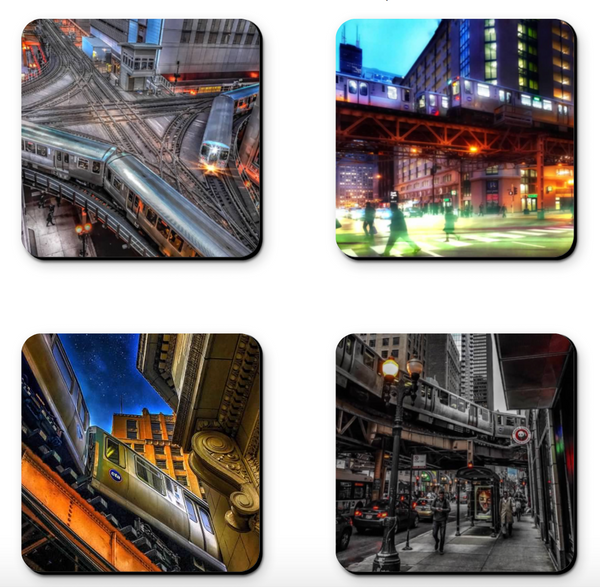 Chicago CTA Train Coaster Sets