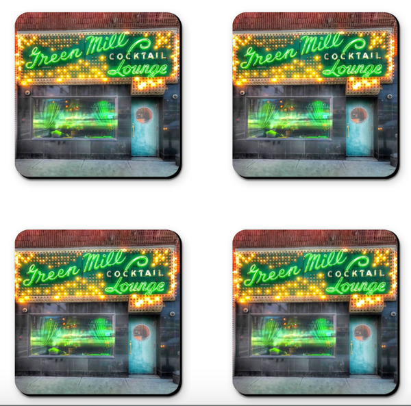 Green Mill Cocktail Lounge Coaster Sets