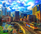 Chicago Train Photography Print Set | Set of 9 Wall Art at 45% off