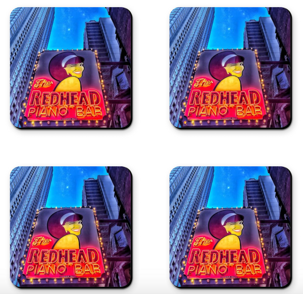 Read Head Piano Bar Coaster Sets