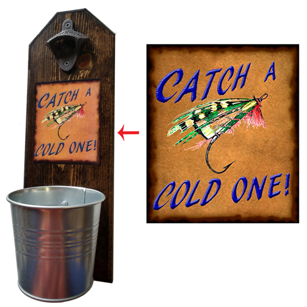 Catch a Cold One These well-made, handcrafted old fashion bottle openers make the perfect gift for home brewers, local craft beer makers, mini bars, house warming or retirements, Groomsmen Gifts, or anyone who opens bottles! Just pop the tops and let them fall - Pike Creek Boutique