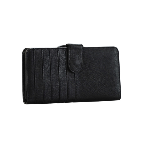Lady's Genuine Black Leather Wallet - Pike Creek Boutique