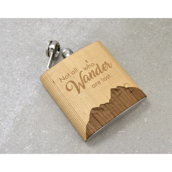 """All Who Wander Are Not Lost"" Hip Flask - Pike Creek Boutique"