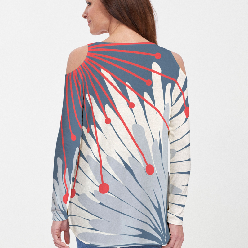 Spirit Collection blouse in inspiring Red, White & Blue designed by Joy Ty - Pike Creek Boutique