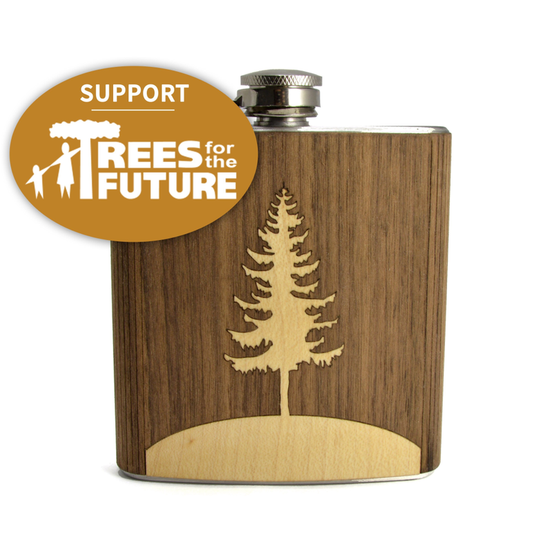 Pine Tree Hip Flask - Pike Creek Boutique