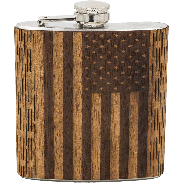 6 oz American Flag Hip Flask - Pike Creek Boutique